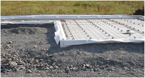 nybyggnation betong grund utan rör